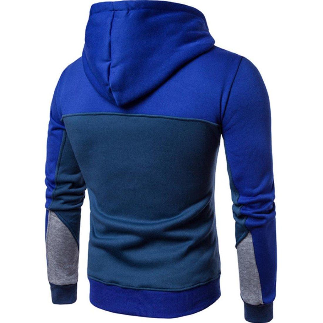 Btruely Pullover Herren Mode Patchwork Sweatshirt Lange /Ärmel Mantel Outwear