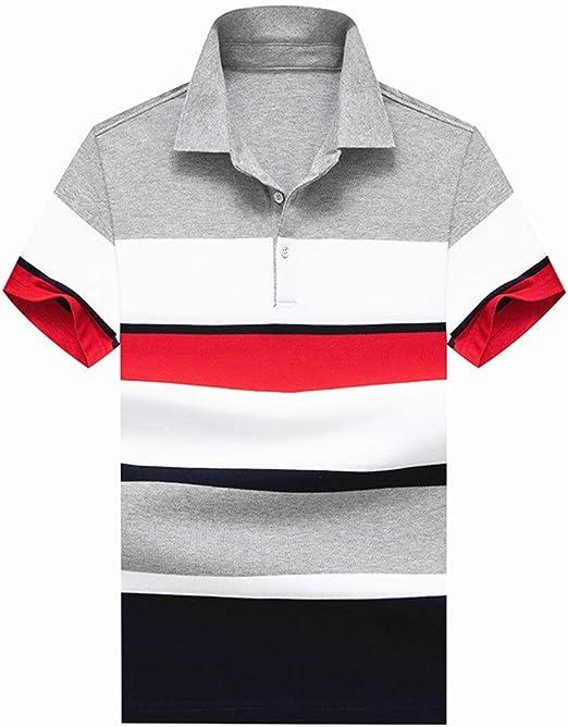 Camiseta casual para hombre Camisa de verano con cuello alto ...