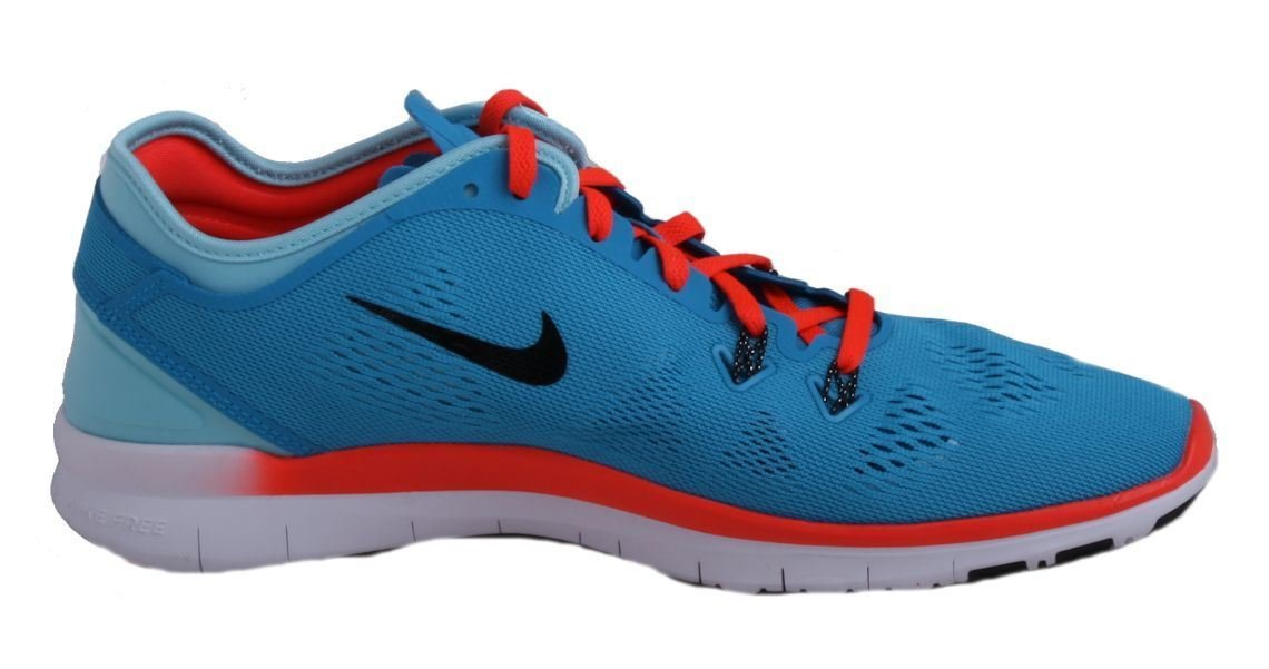 NIKE Free 5.0 TR Fit 5 Womens Blue Lagoon/Black/Bright Crimson Running Sneakers by NIKE (Image #2)