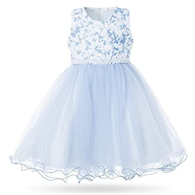 2c60ef77781 Amazon.com  CIELARKO Girls Dress Party Wedding Lace Flower Dresses ...
