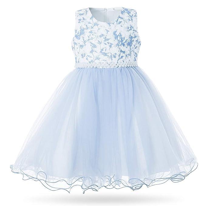 Amazon.com: CIELARKO - Vestido de encaje para niña, diseño ...