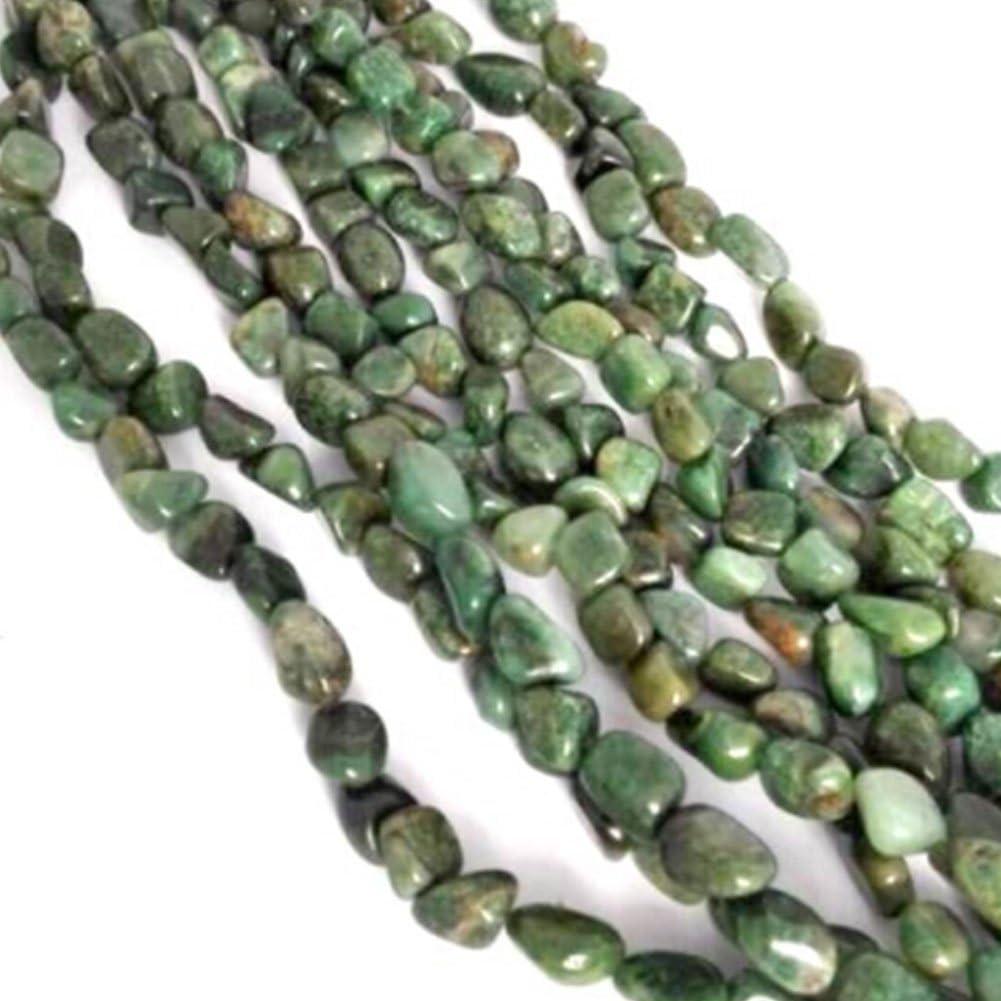 NBEADS 1 hebra de 5 x 7 mm Verde Oliva Natural Perlas de Jade Sueltas, Cuentas Planas para Bricolaje diseño de joyería