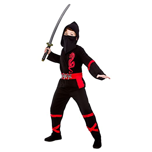 Negro Power Ninja - Disfraz de Niño 8 - 10 años