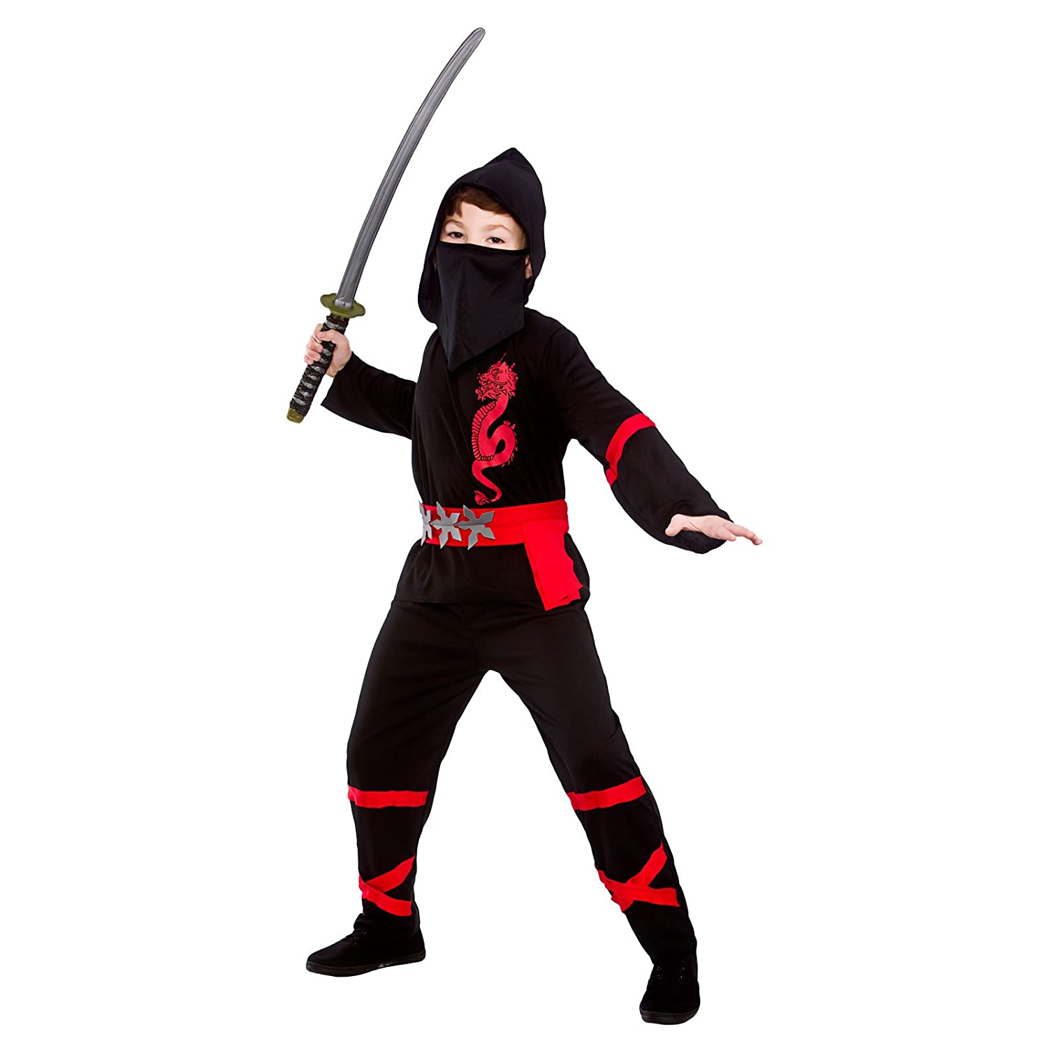 Black Power Ninja - Disfraz de Niño (M 5-7 años): Amazon.es ...