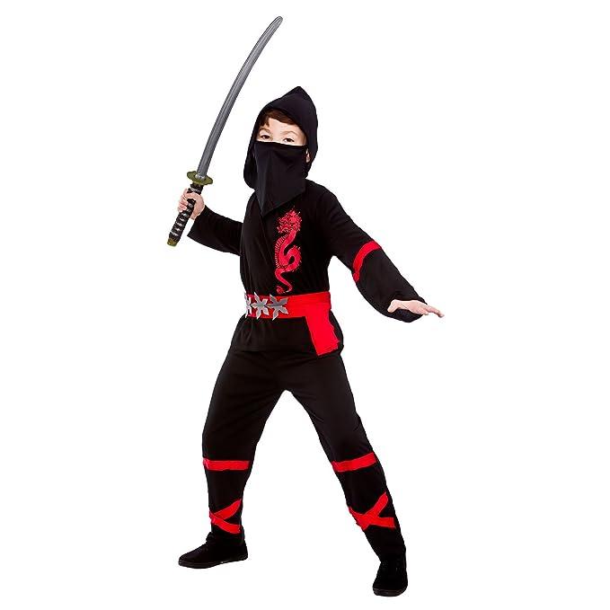 Black Power Ninja - Disfraz de Niño (S 3-4 años): Amazon.es ...