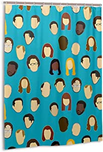 Noick The Office Heads Custom Teal Boutique Shower Curtain Hooks Polyester Home Decor 54x78inch