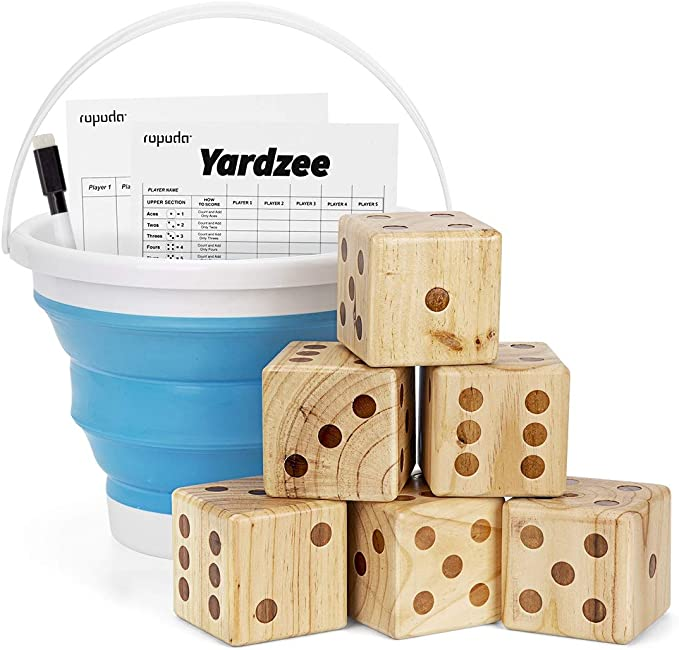 """Storage Bag Details about  /Yard Dice Giant Wooden Yard Game 6 3.5/"""" Wood Dice 5PK 5/""""x7/""""..."""