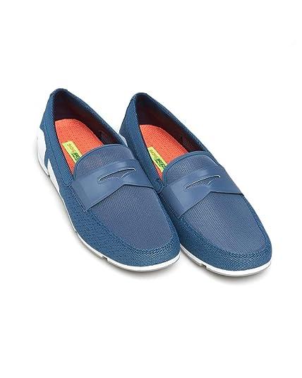 482ba732a7b Swims Men s Breeze Penny Loafer Nylon Slip On Slate White   Light Gray - Slate