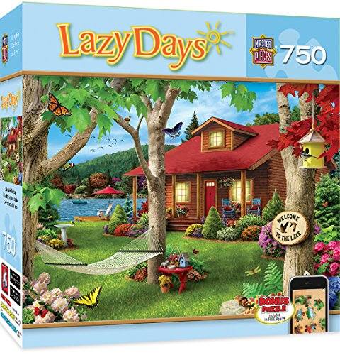 MasterPieces Lazy Days Lakeside Retreat - Lakeside Cabin 750 Piece Jigsaw Puzzle by Alan - In Mall Connecticut