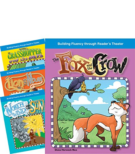 Teacher Created Materials - Reader's Theater: Fantastic Fables Set 2 - 4 Book Set - Grades 2-3 - Guided Reading Level E - Q (Theater Set)