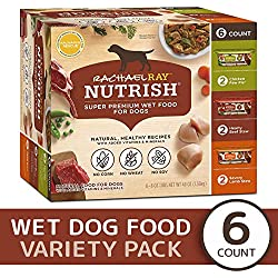 Rachael Ray Nutrish Natural Premium Wet Dog Food, Savory Favorites Variety Pack, 8 Oz. Tub (Pack Of 6)