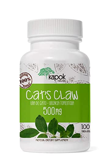 Kapok Naturals Uña de Gato or Cats Claw Capsules. 500mg Cats Claw Herb for Joint