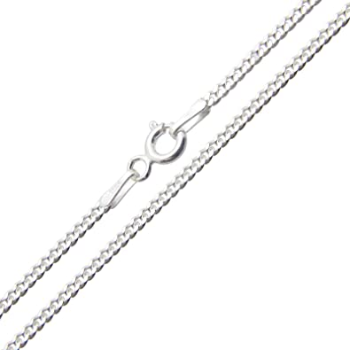 Solid 925 Sterling Silver Curb Chain Necklace with Gift Box (24 Inches) 8RBH8Ioo