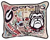 GEORGIA UNIVERSITY OF COLLEGIATE EMBROIDERED PILLOW - CATSTUDIO