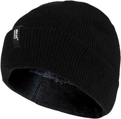 Herren winter warm fleece handschuhe und beanie m/ütze in 4 farben HEAT HOLDERS