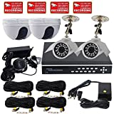 VideoSecu 4 Channel Video H.264 Network DVR Stand Alone Real Time Digital Video Recorder Security Surveillance System with 2TB 3.5'' SATA Hard Drive, include Security Cameras, Cables, Power Supply 1R2