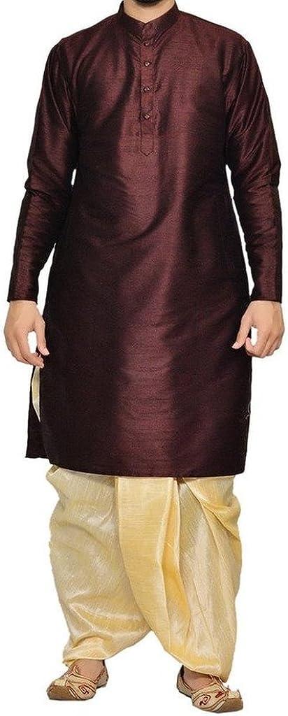 ROYAL Kurta Mens Designer Silk Blend Dhoti Kurta