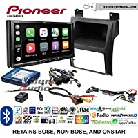 Volunteer Audio Pioneer AVH-2440NEX Double Din Radio Install Kit with Apple CarPlay, Android Auto and Bluetooth Fits 2007-2014 Cadillac Escalade