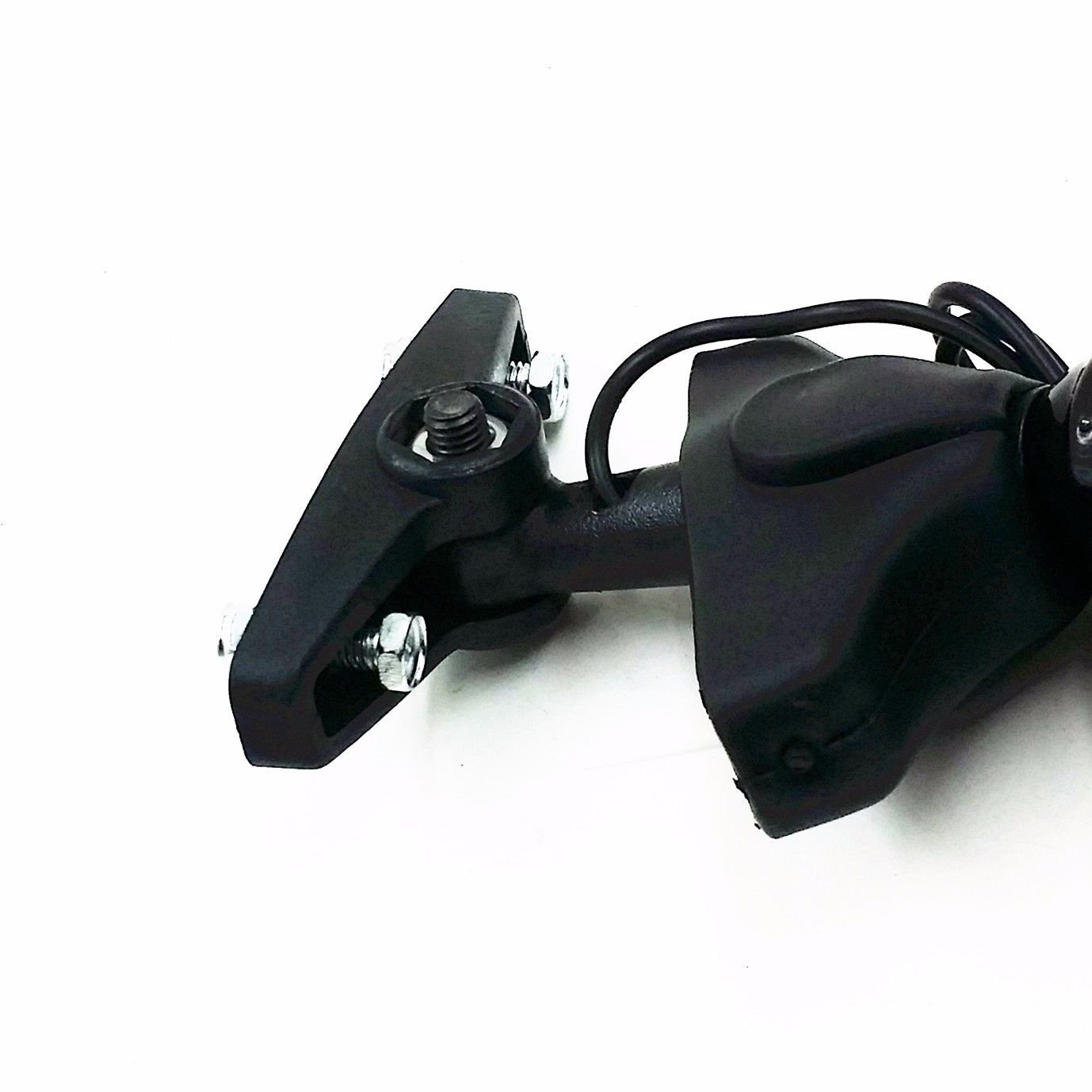 Turn Signal Integrated Fairing Mount Racing Sport Bike Rear View Rearview Side Mirror for Triumph Ducati Kawasaki Suzuki GSXR Hayabusa Honda CBR CBF Yamaha Sport Street Bike Black//Clear