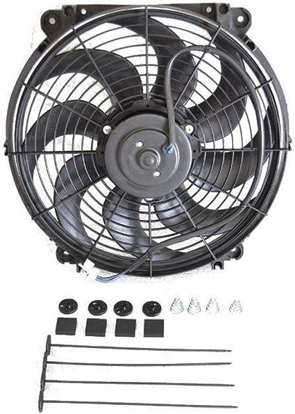 "14/"" Diameter All Purpose 12V Thin Electric Radiator Cooling Slim Fan"