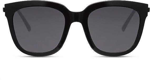 Cheapass Gafas de Sol Mujer Gafas Montura Negra Oversize con ...
