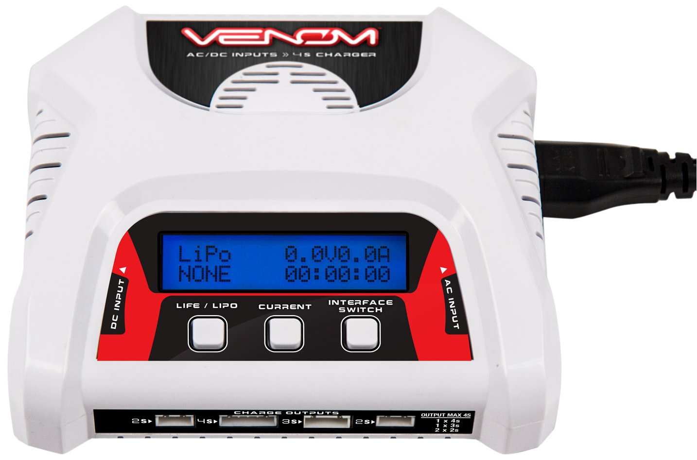 Venom 2-4 Cell AC/DC RC LiPo Dual Battery Balance Charger