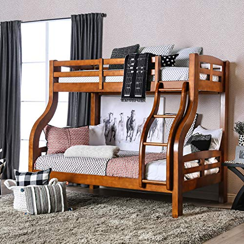 Furniture of America Utaria Curvy Twin Over Full Bunk for sale  Delivered anywhere in USA