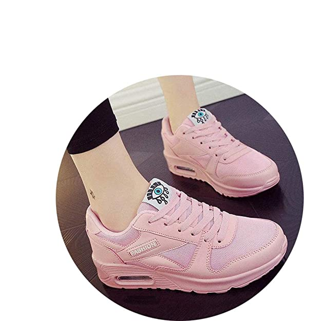 Amazon.com | Yuehen Spring Tenis Feminino Casual Shoes Outdoor Walking Shoes Women Flats Pink Lace up Ladies Shoe | Shoes