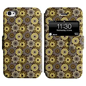 LEOCASE rueda dentada Funda Carcasa Cuero Tapa Case Para Apple iPhone 4 / 4S No.1007082