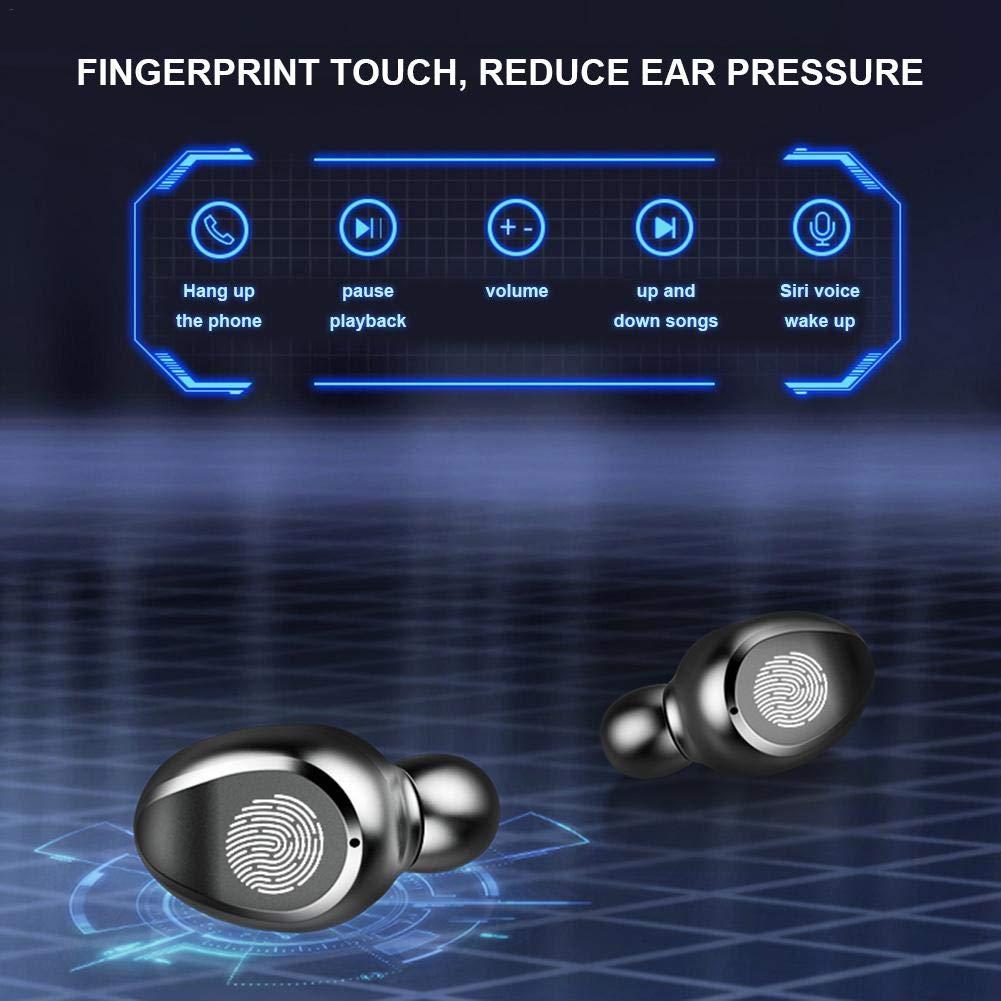 Cuffie Stereo Invisibili con Tecnologia ad Alta frequenza Audio Stereo 8D Mini con Scatola di Ricarica Mississ 2019 Auricolari Bluetooth 5.0 TWS Wireless pi/ù recenti