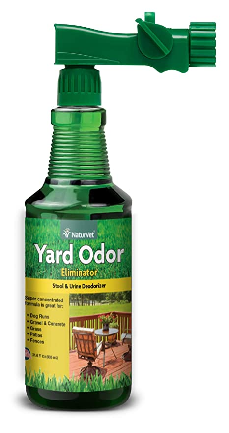 NaturVet – Yard Odor Eliminator – Eliminate Stool and Urine Odors from Lawn  and Yard – Designed for Use on Grass, Plants, Patios, Gravel,