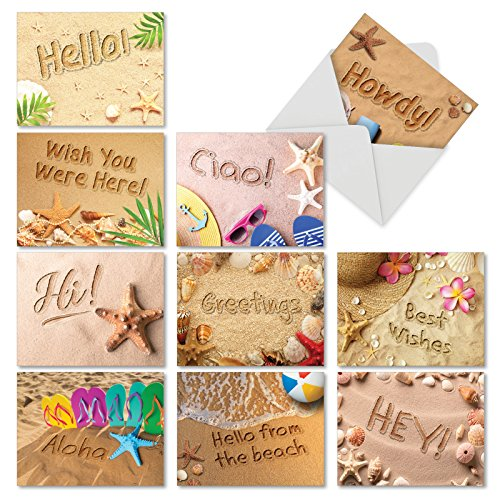 """Assorted Cards with Envelopes (4"""" x 5 ¼"""") - Boxed Stationery Set, All-Occasion Blank Greeting Notecards for Holidays, Weddings, Thank You - NobleWorks #AM6113OCB-B1x10 ()"""