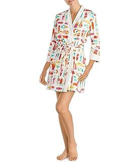 99dcb6901 Kate Spade New York Hearts Crinkle Chiffon Robe (5041473) M Hearts ...