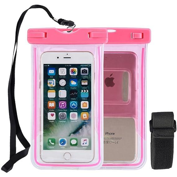 a7db8f5db54 iPhone 8 teléfono impermeable Funda impermeable para teléfono celular,  iPhone 8 plus, transparente brilla