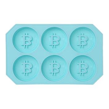 Compra Lamdoo - Molde de Silicona para Hacer Cubitos de Hielo, Forma de Moneda, Forma de cubito, Forma Redonda, Silicona para Uso alimenticio, Azul, ...