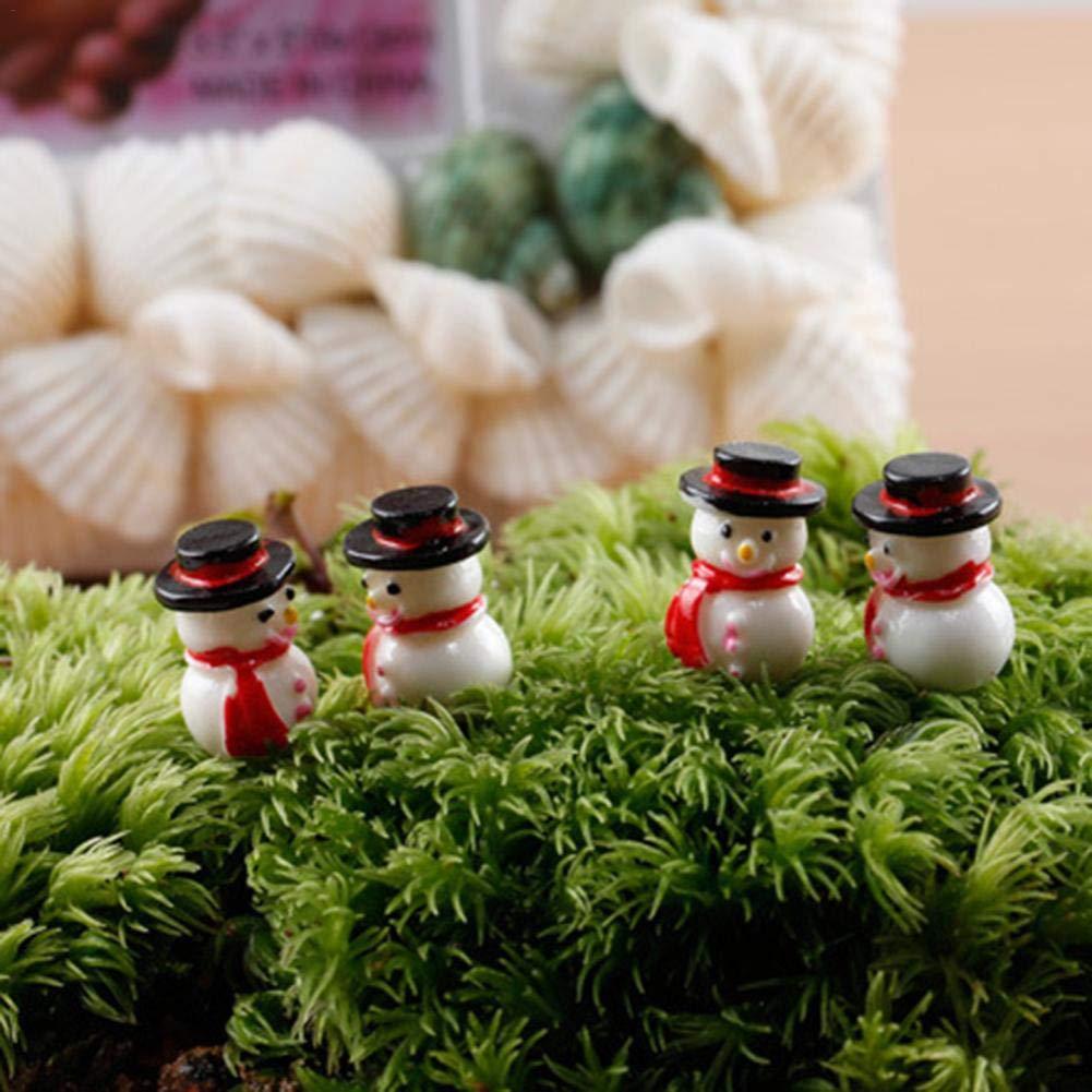 Doll Decoration Xmas Mini Resin Snowman Figurine Craft Garden Decor Ornament Miniature Plant Pot Fairy Micro Landscape DIY Christmas Gift heresell