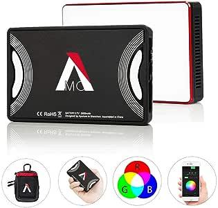 Aputure AL-MC, Amaran AL-M9 Upgrade Version with RGB On-Camera Video Light, TLCI/CRI 95+, 3200-5600K Adjustable, 0-100% Stepless Dimming, 9 Pre-Programmed Lighting Effect Mode, Wireless App Control