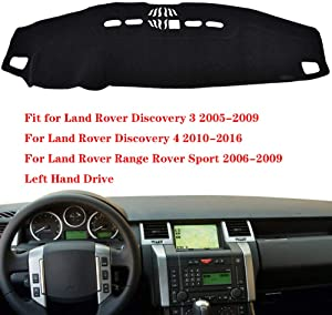 N2Qnice Car Auto Dashboard Cover for Land Rover Range Rover Sport Discovery 3 Discovery 4 2010-2016 Left Hand Drive Dashmat Pad Carpet Dash Mat