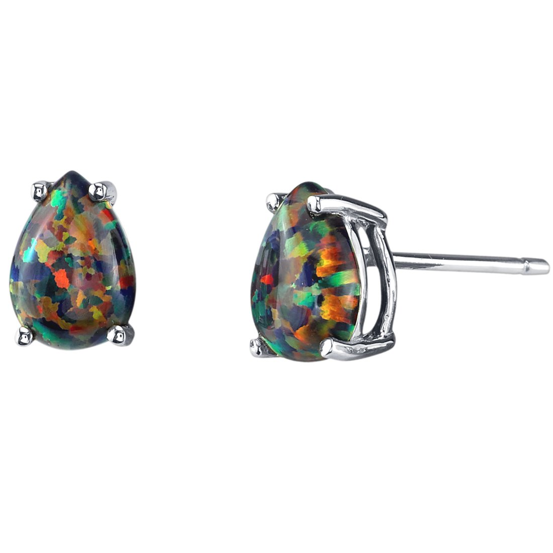 73371e9bf Earrings are made of 14 Karat White Gold Earrings Feature Stud Posts with  Secure Friction Backings Exclusive Craftsmanship and Styling
