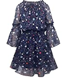 Smukke, Big Girls Beautiful Printed Long Sleeves Dress(with Options), 7-16