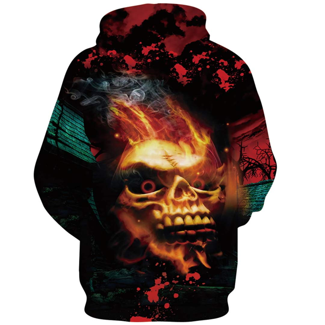 Amazon.com: Skull 3D Hoodie Sweatshirts Men Women Skeleton Autumn Tracksuit Hooded Tops: Clothing