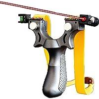Portable Slingshot & Scope Slingshot,High Velocity Hunting Slingshot with Adjustable Fiber Optic Sight Resin