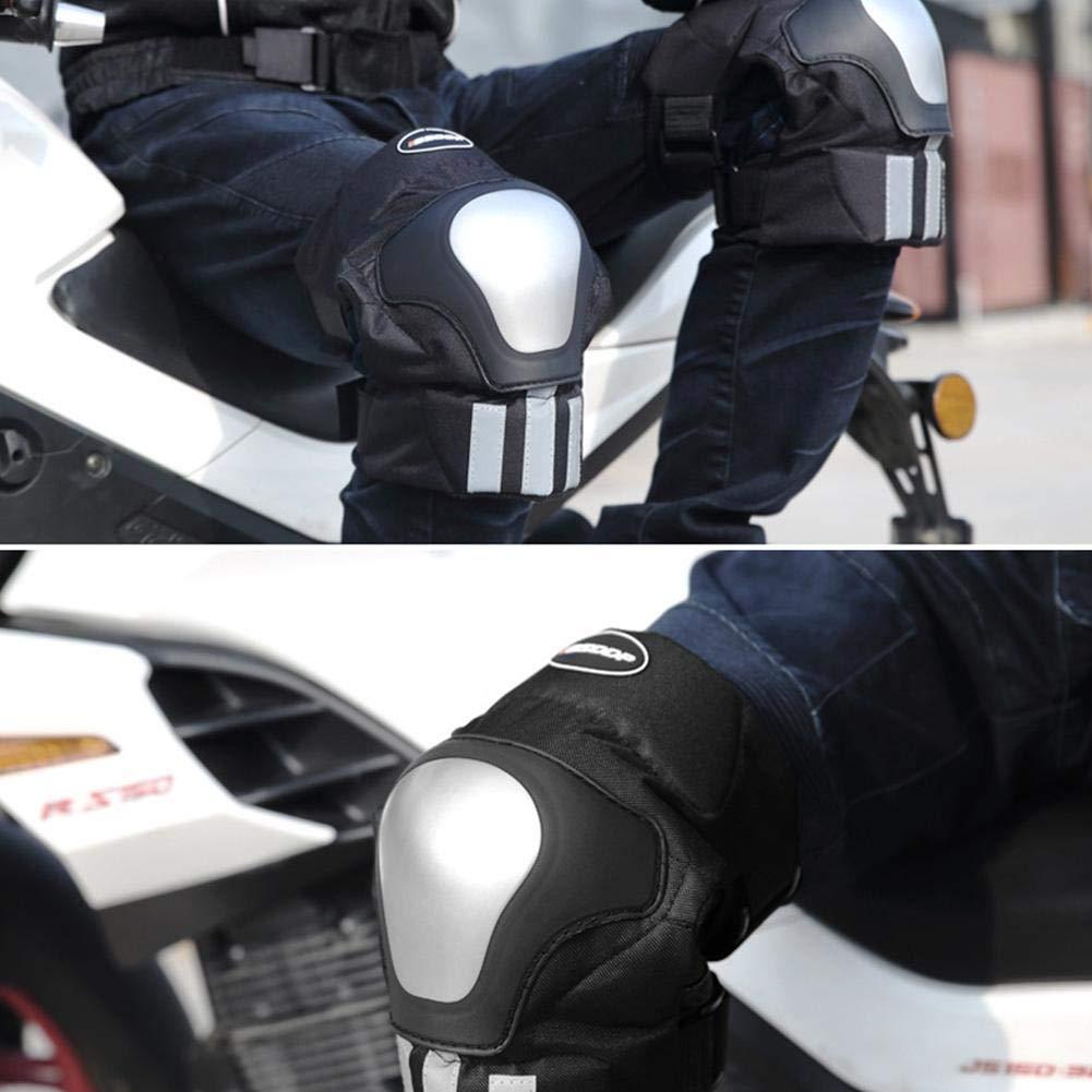 Knowled Rodilleras De Protecci/ón De Motocicleta Protector De Codo Rodilleras para Moto Rodilleras De Motocicleta Rodilla Rodilleras Acolchadas para Motocross