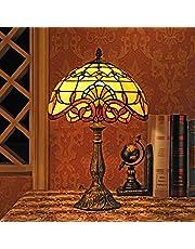 Gweat 30 cm europeisk barock tiffany bordslampa sovrumslampa sänglampa