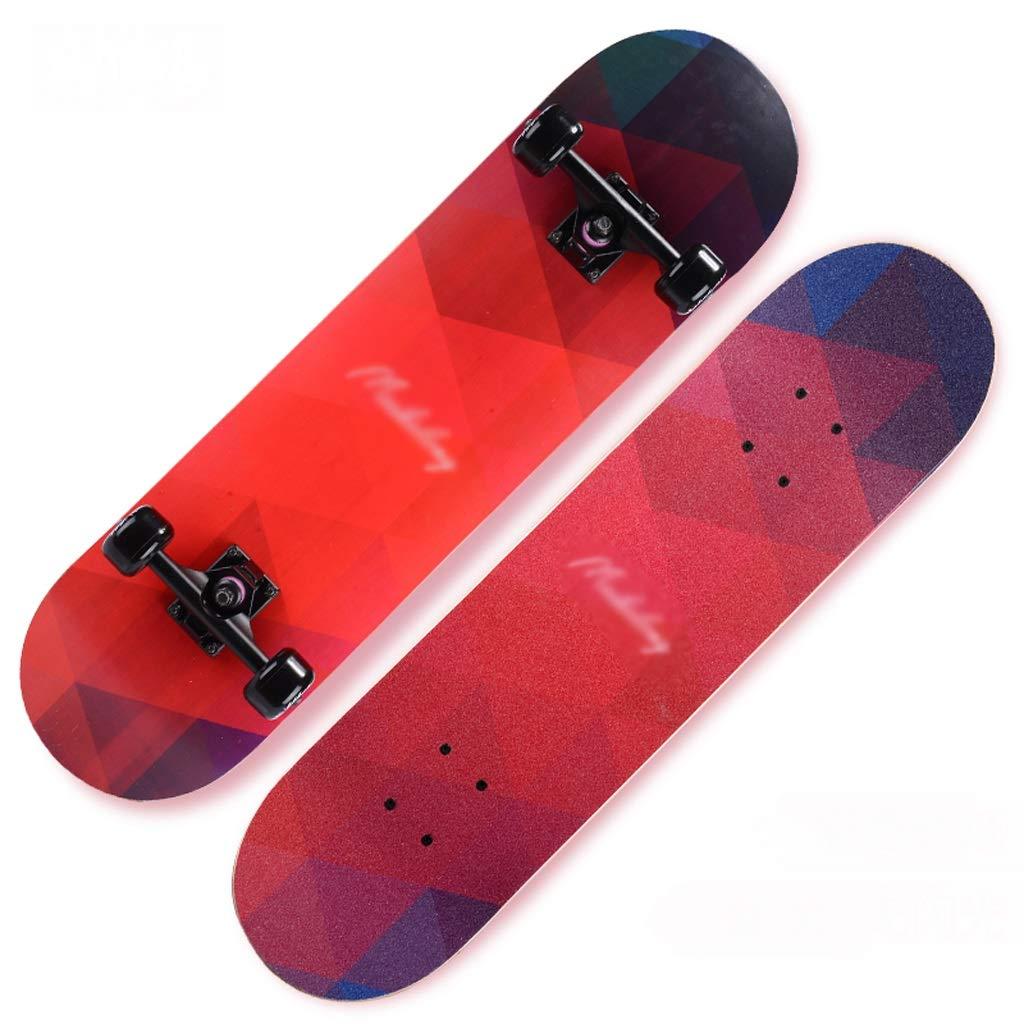 本物の DUWEN : スケートボード大人の女の子初心者ティーンエイジャーブラシストリートダンスボードボーイダブルロッカータイププロの四輪スクーター (色 B : A) DUWEN B07NRF82Z5 B B, トンダバヤシシ:0171c496 --- a0267596.xsph.ru