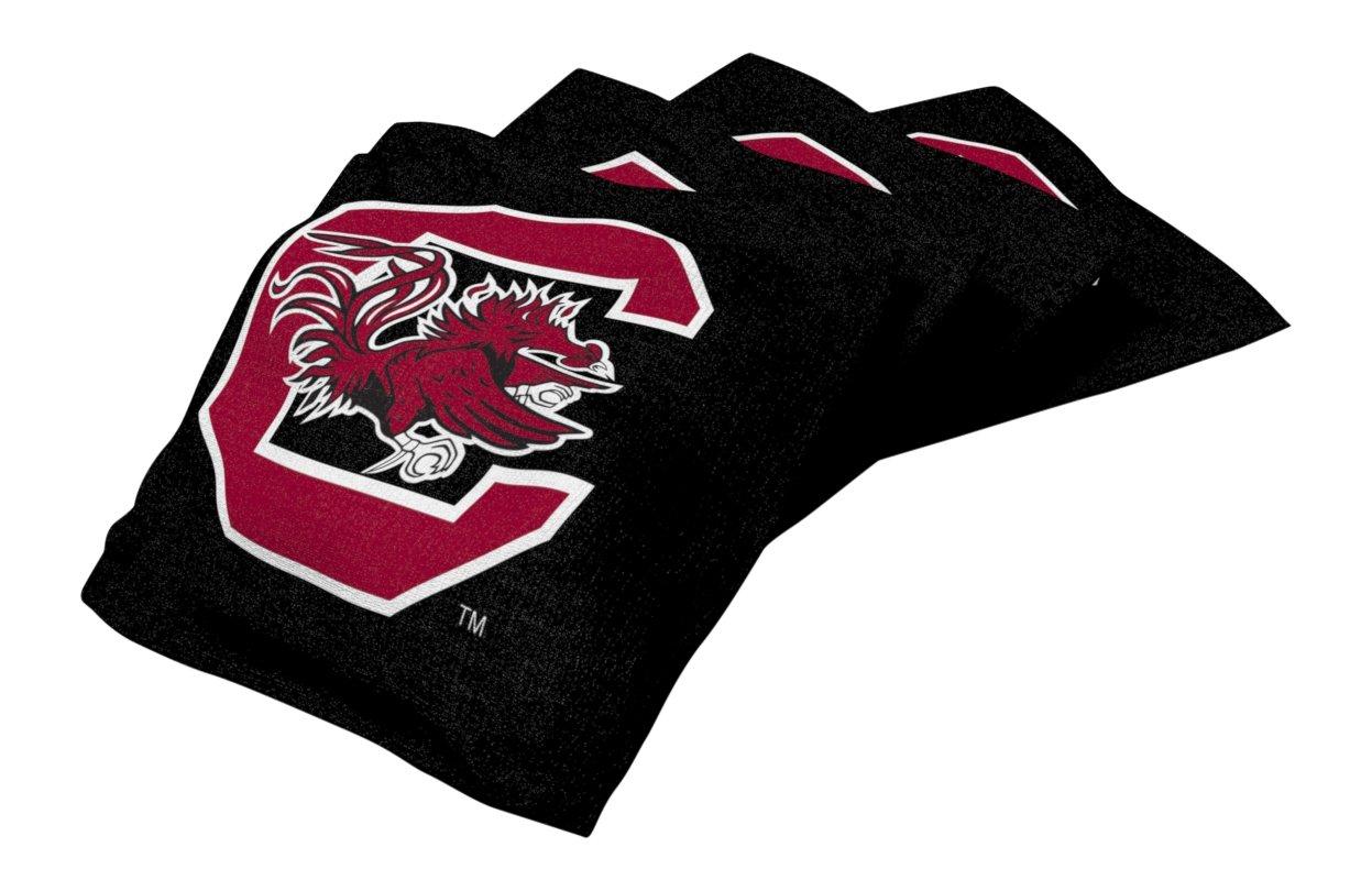 Wild Sports NCAA College South Carolina Fighting Gamecocks Black Authentic Cornhole Bean Bag Set (4 Pack)