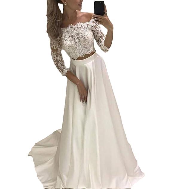 Gotidy Long Two Pieces Vestido De Novia Lace Chiffon Bridal ...
