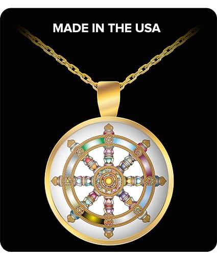 Amazon Buddha Necklace Pendant Dharma Wheel Dharmachakra