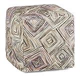 Simpli Home Jodi Cube Pouf, Patterned Multi Color