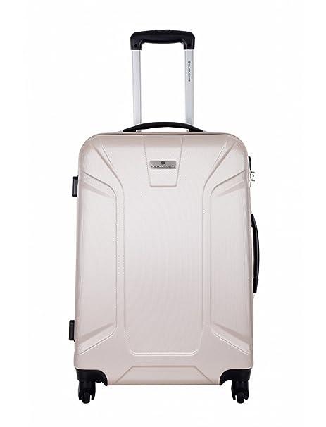 Platinium-Maleta de cabina, diseño de cachemira, color beige, tamaño S-